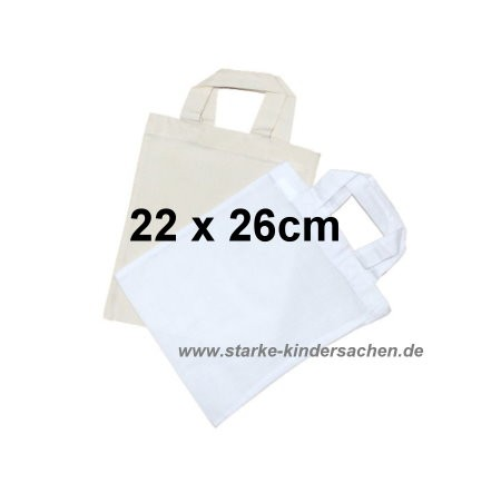 f288b5201ef15c kleines Baumwolltäschchen 22x26cm in Baumwolle Natur oder weiß
