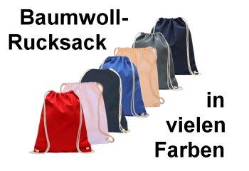baumwollrucksack-einfarbig