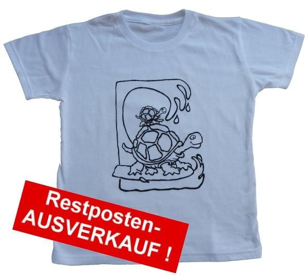 T-Shirt SET mit Ausmalmotiv SCHILDKRÖTE Gr. L = 140