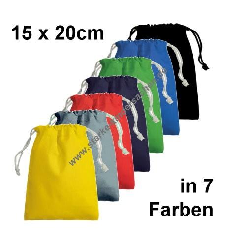 Turnbeutel aus Baumwolle KLEIN in 7 Farben: