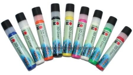 marabu 3D-Liner Aufplusterfarbe im Pen,  in vielen Farben, Kindergartenbedarf, Schulbedarf