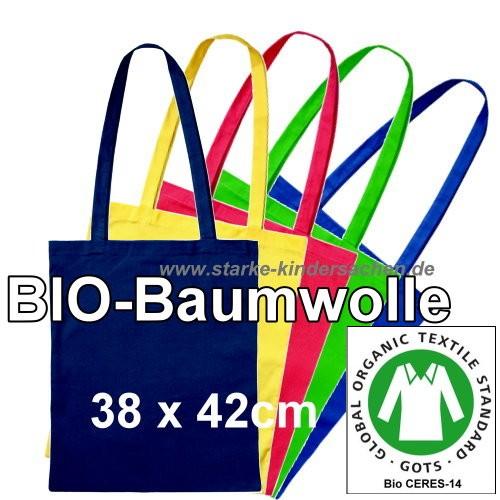 große Taschen lange Henkel mit Bio-GOTS-Siegel