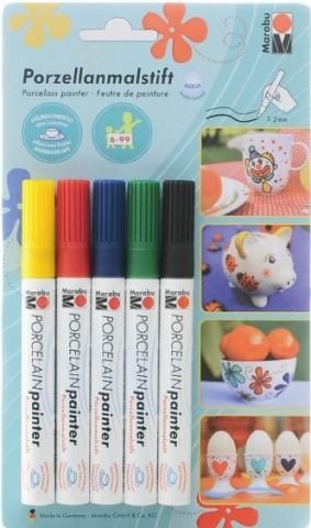 Porzellanmalstifte von marabu PorcelainPainter Grundfarben basic