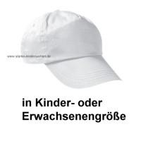 VK+VE - Baumwoll-Cap weiss für KINDER- oder ERWACHSENE zum Bemalen Baumwoll-Cap weiss für KINDER ca. 4 - 7 Jahre