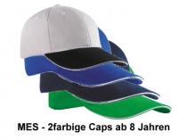 MES - schweres 2-farbiges Baseball-Cap ab 9 Jahren