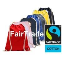 Fairtrade Gymbag Rucksack-Turnbeutel in vielen Farben, Vereinsbedarf