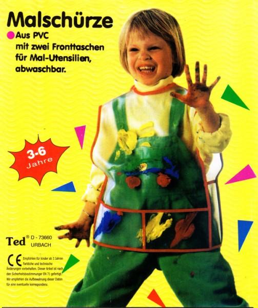 Kinder-Malschürze aus PVC, für 3 - 6 Jahre