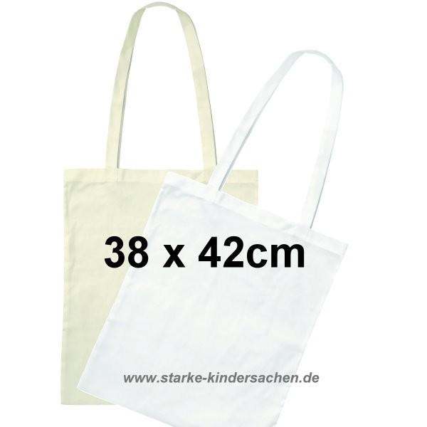 Baumwolltasche GROSS 38x42cm lange Henkel