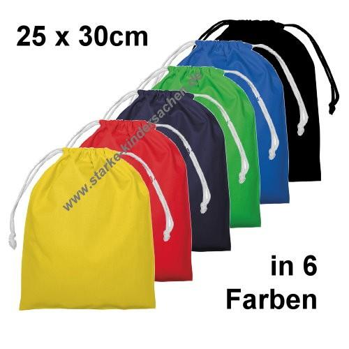 Turnbeutel aus Baumwolle MITTEL in 7 Farben: