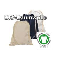 Gymbags Sportbeutel aus GOTS-Bio-Baumwolle in verschiedenen Farben hier im onlineshop