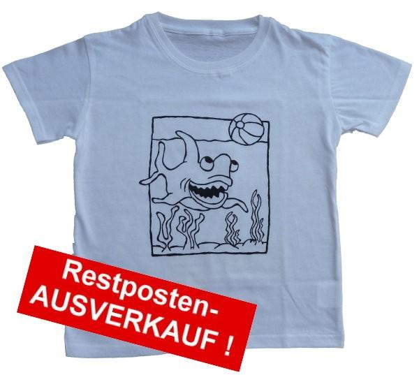 T-Shirt SET mit Ausmalmotiv HAI Gr. L = 140