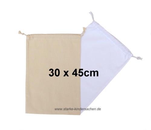 Baumwoll-Turnbeutel einfarbig unbedruckt in weiß oder natur, zum Bemalen mit Stoffmalfarben