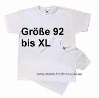 weiße Kinder-T-shirts zum Bemalen mit Stoffmalfarben, Ausmal-T-shirts appreturfrei mit Mengenrabatt