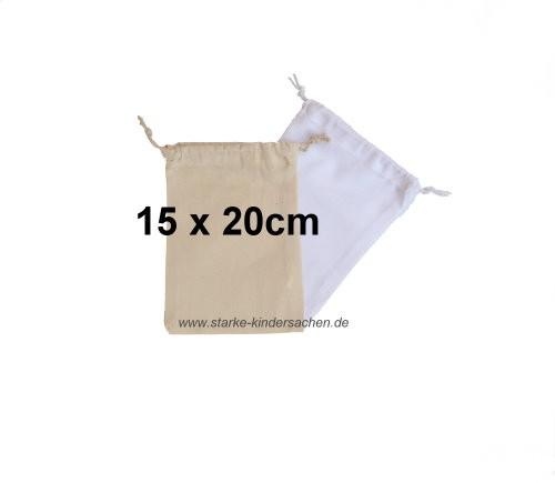 Turnbeutel KLEIN, Baumwolle 15x20cm