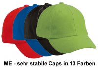 ME - schweres Baseball-Cap ab 9 Jahren in 10 Farben