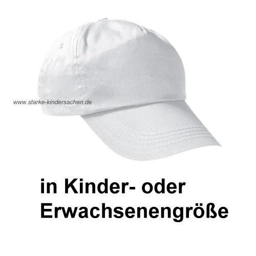 VK+VE - Baumwoll-Cap weiss für KINDER- oder ERWACHSENE zum Bemalen