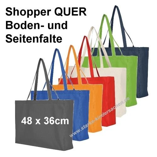 Maxi-Shopper QUER Baumwolltasche 48x36cm