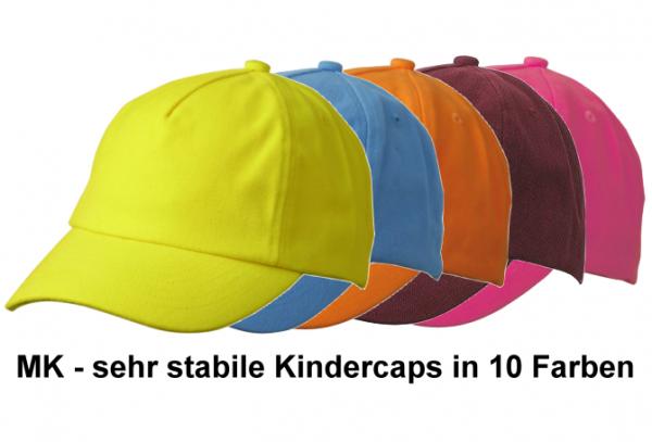 MK - schweres Kinder-Baseball-Cap in 10 Farben