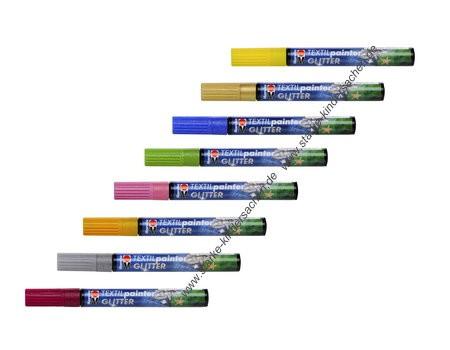 "marabu ""Textil painter Glitter"" Stoffmalfarbe im Stift"
